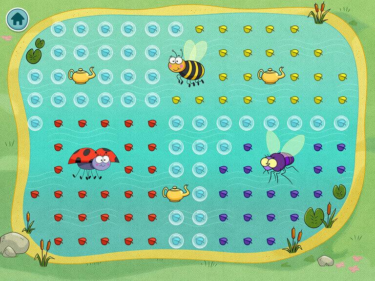 Les insectes de l'étang sont affamés